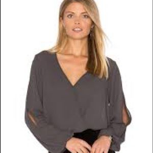 Three Eighty Two grey blouse
